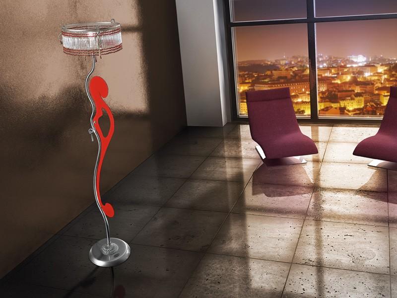 Casanova floor lamp, Lámpara de pie con líneas sinuosas, varios acabados