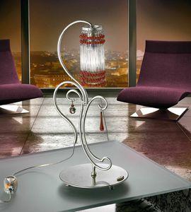 Casanova table lamp, Lámpara de metal forjado a mano, para las oficinas modernas