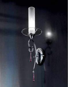 Sinfonia applique, Lámpara de pared con colgantes de cristal y cristales Sw