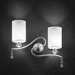 Delhia applique, Lámpara de pared de metal con 2 luces y colgantes sw