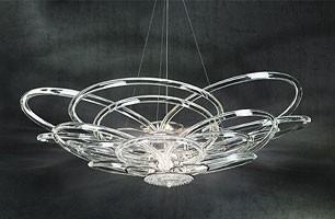 Flair chandelier, Lámpara de techo para oficinas modernas y villas