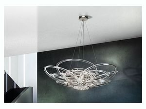 Flair chandelier, Lámpara de techo para oficinas modernas y villas