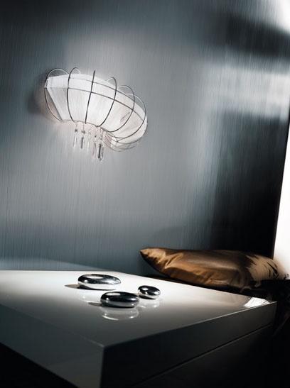 Full Moon applique, Lámpara de pared moderna con forma elegante y seductor