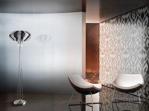 Full Moon floor lamp, Lámpara de pie refinado para las oficinas en un estilo moderno