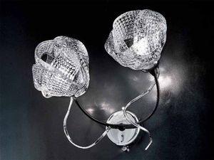 Gomitoli applique, Lámpara de pared con detalles en hierro forjado