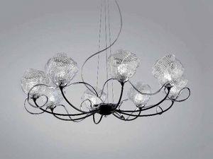Gomitoli araña, Lámpara en vidrio trabajó con técnicas de Murano