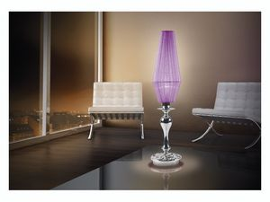 Karma table lamp, Lámpara de escritorio con 1 luz, de Bobeches cristal cromo