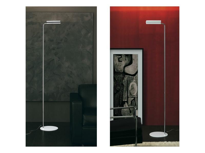 Loft, Lámpara de pie halógena en acero y aluminio