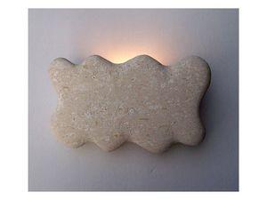 Nuvola, Lámpara apliques hecha de piedra blanca de Vicenza