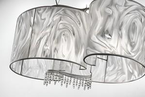 Onda hanging lamp, Lámpara colgante con colgantes de cristal de plomo