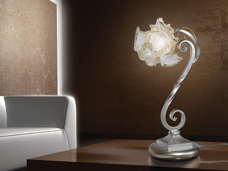 Rose table lamp, Lámpara de mesa de estilo naturalista, para escritorios modernos
