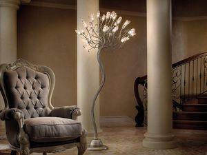 Soffio floor lamp, Lámparas de pie de hierro y vidrio, varios acabados