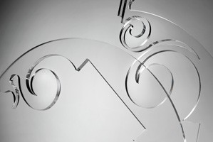 Sphera chandelier, Lámpara de suspensión moderno con elementos de plexiglás