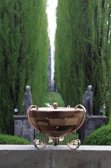 Venere, Lámpara esfera semipiso, decorado con cristal de Murano