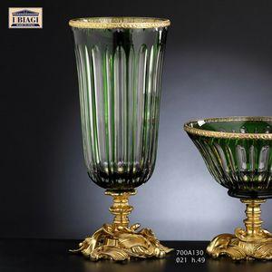 730-760-700Axxx, Jarrones y objetos decorativos en cristal, oro y bronce