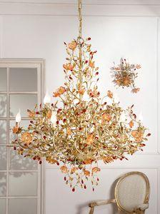 937112+10, Araña de luces de lujo con cristal de Murano