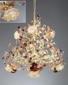 986110, Araña con difusores de cristal de Murano