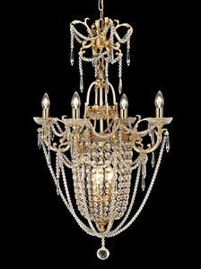 Art. 680 CR 4+3, Preciosa lámpara de latón y cristal