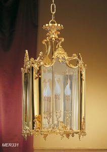 Art. MER 331, Linterna clásica en latón dorado