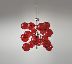 ATOM Ø 40, Lámpara de suspensión con bolas de cristal