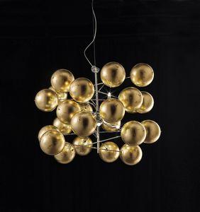 ATOM Ø 80, Araña con esferas de hojas de oro