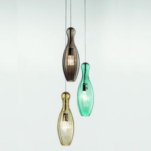 Birillo Ls631-040, Lámparas de racimo, en vidrio soplado