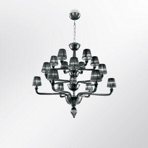 Coco DP0371-6+6+6, Araña de cristal adaptable con pantallas de lámparas