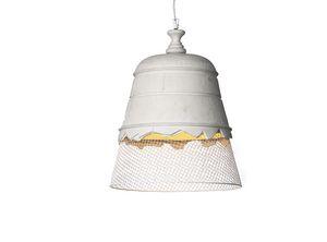 Domenica SE102, Lámpara de suspensión en malla metálica y yeso