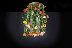 Flower Power Poppy Round, Araña de diseño floral