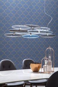 FOG, Lámpara de suspensión con cristales tintados o transparente, disponible en diferentes colores