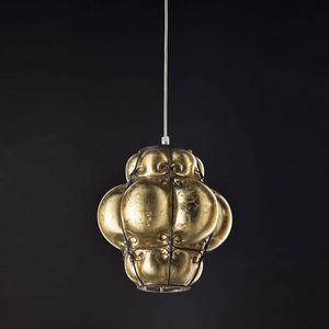 Foglia Oro Ms207-030, Lámpara colgante con acabado dorado