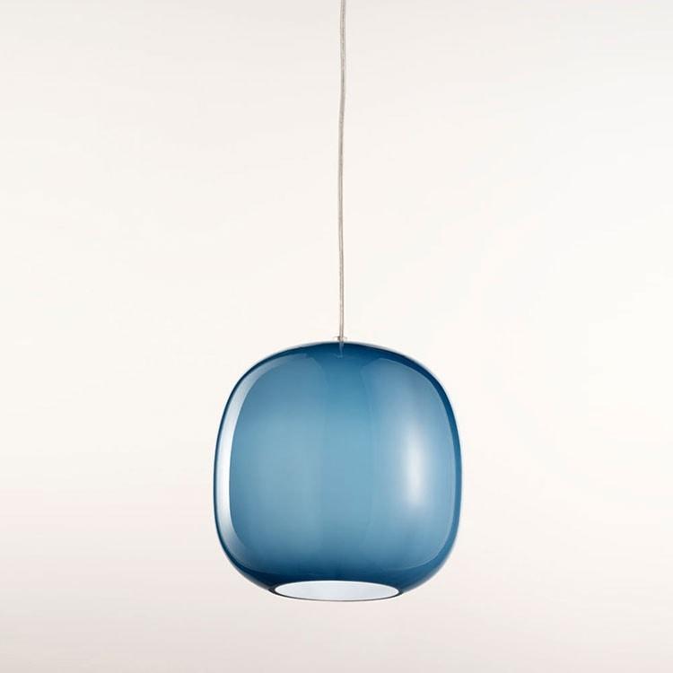 Forme Ls625-025, Araña en cristal satinado azul