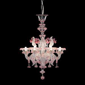 Galliano L0402-6-CRZ-MB, Araña de cristal con reflejos rosas