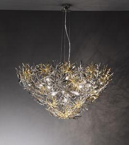 Ispirazione ceiling lamp, Lámpara en estilo moderno, acabados en níquel, cromo y oro