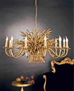 L.1160/12, Lámpara clásica con adornos de hoja de oro