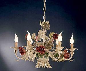L.5105/6, Araña con rosas de hierro forjado