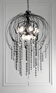 L.7935/12, Araña con colgantes decorados en negro brillante