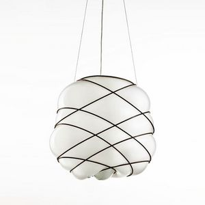 Nuage Ms436-040, Lámpara moderna en vidrio soplado blanco