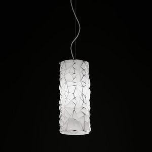 Orione Rs388-020, Lámpara de suspensión en vidrio rosa soplado