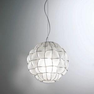 Pouff Rs383-035, Lámpara de techo de vidrio, artesanal