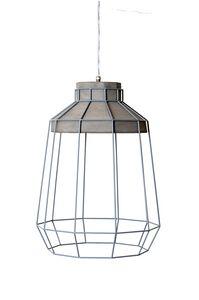 Settenani SE688N7, Lámpara de suspensión para interior, hormigón y hilo metálico