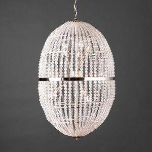 UOVO HL1090CH-12, Araña con esferas de cristal transparentes