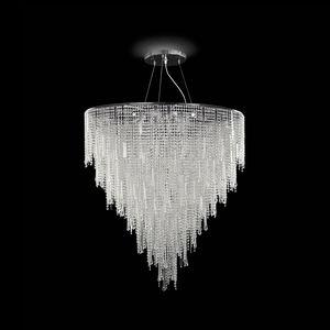 Vanity SS7660-90×125-CN, Lámpara de suspensión decorada con cristal tallado