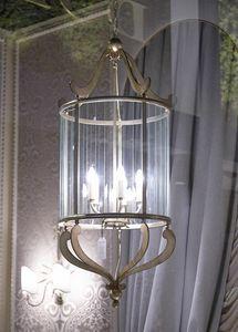 VETRI TAGLIATI HL1084CH-5, Linterna de hierro con decoraciones de vidrio