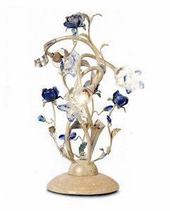 95833, Lámpara de mesa con flores decorativas