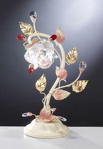 99031, Lámpara de mesa con diseño floral