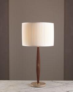 AMMOS HL1006TA-1, Lámpara de mesa con marco de cuero