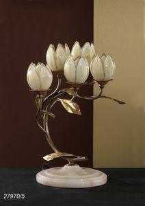 Art. 27970/5 Fior di Loto, Lámpara de mesa con elementos de vidrio