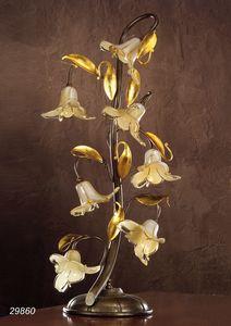 Art. 29860 Jolie, Lámpara de mesa con flores de cristal decorativas