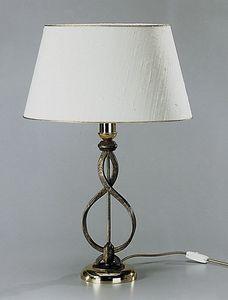Art. 3024-01-00, Lámpara de mesa con pantalla ovalada de shatung